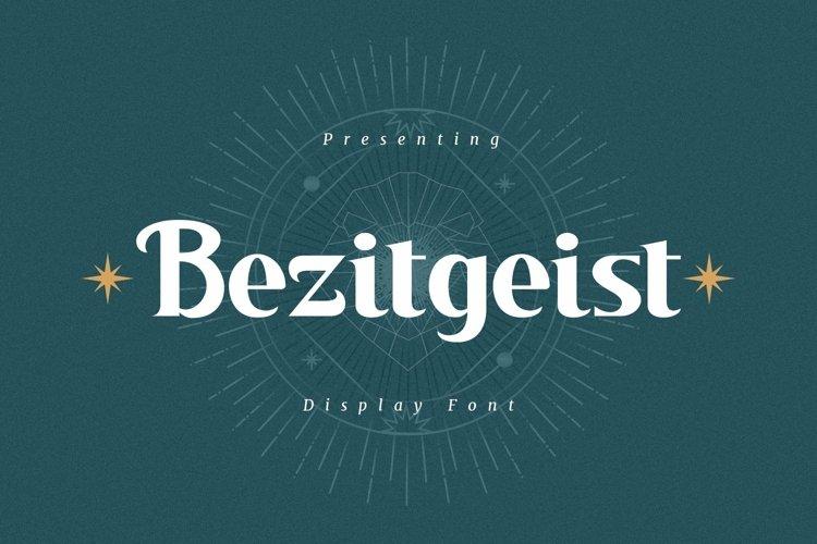 Web Font Bezitgeist - Display Font example image 1