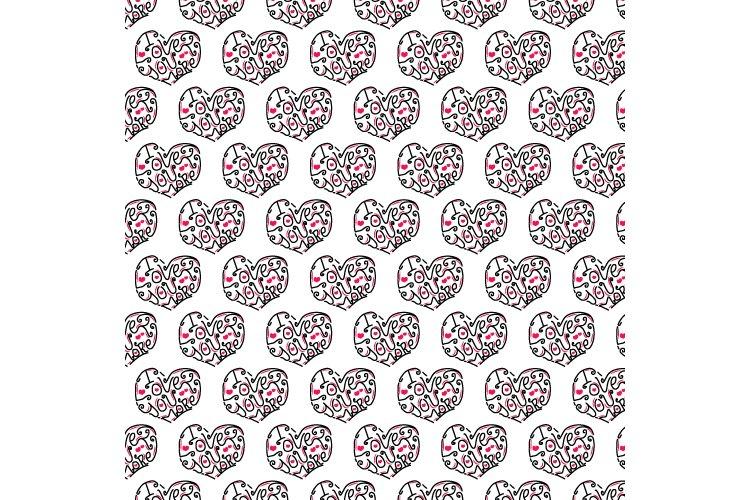 Lettering I Love You More Pattern Design