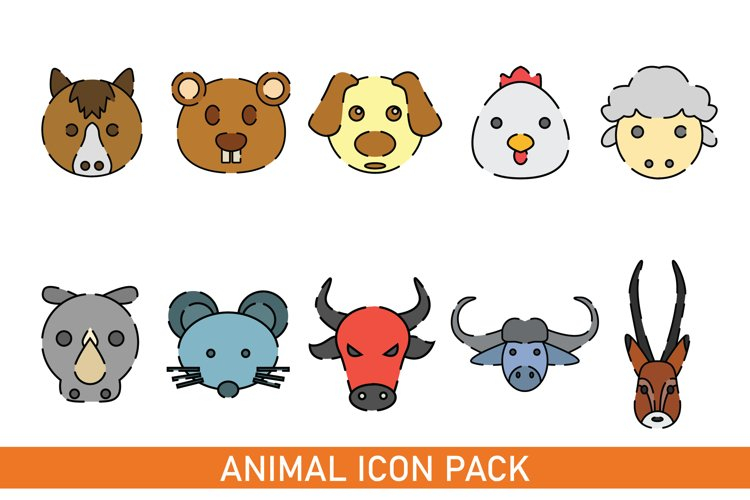 Flat Icon Pack Animal Vector