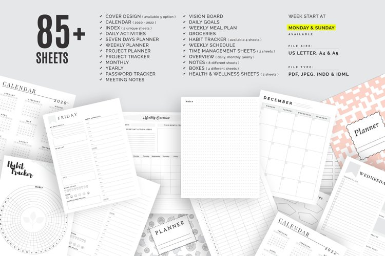The Ultimate Planner Bundle Pack example image 1
