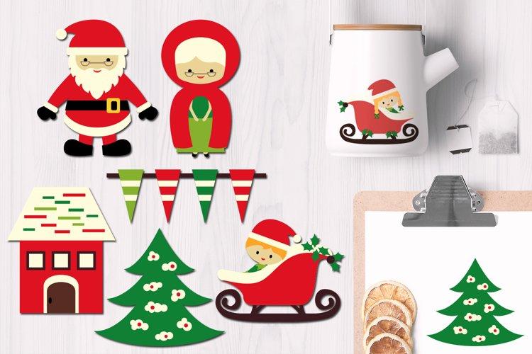 Santa, Mrs. Claus, Christmas Sleigh example image 1