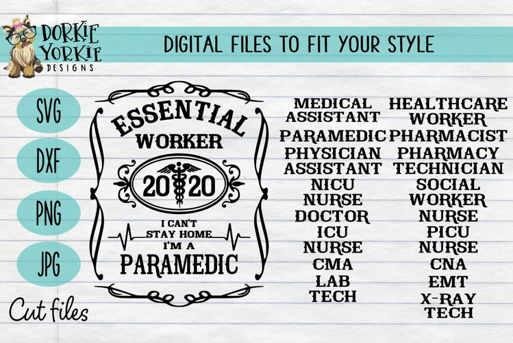 Essential Worker Bundle - I can't stay home I'm a - Medical example image 1