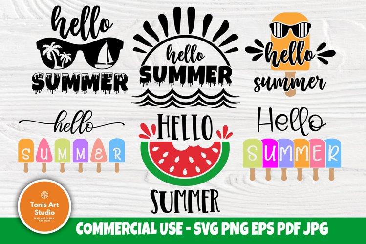 Hello Summer SVG Bundle, Beach Svg, Popsicles Svg, Quotes