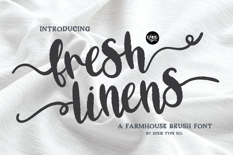 FRESH LINENS a Bold Distressed Farmhouse Font example image 1