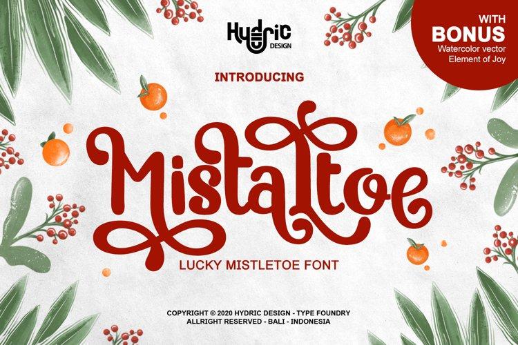 Mistaltoe - Magical Christmas font example image 1