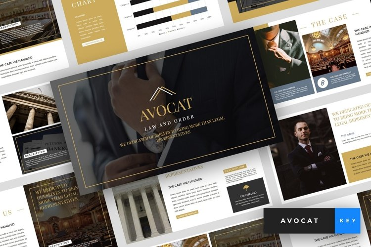 Avocat - Lawyer Keynote Template example image 1