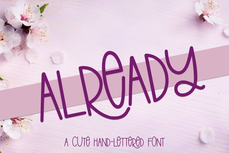 Web Font Already - A Cute Hand-Lettered Font example image 1