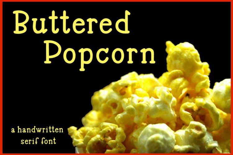 Buttered Popcorn - A handwritten serif font example image 1