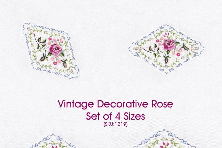 Vintage Antique Floral Decorative Single Rose