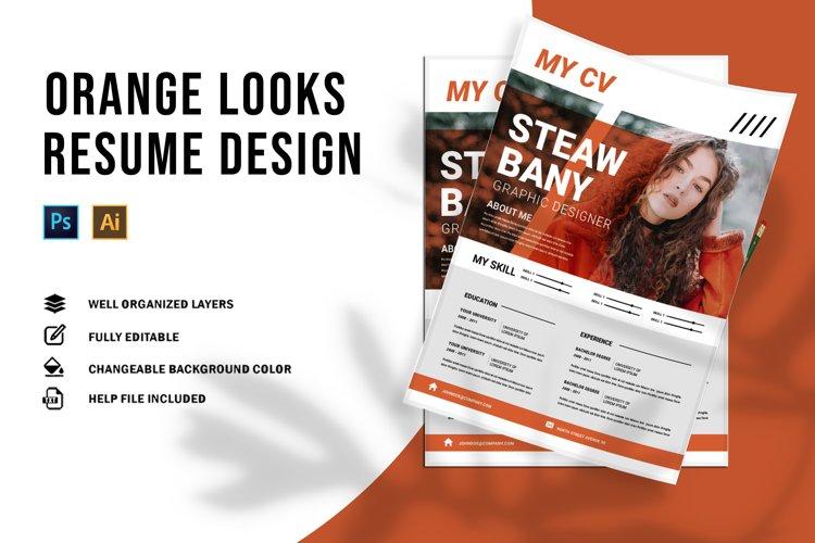 Orange Looks | CV & Resume example image 1