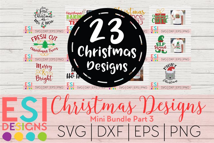 Christmas SVG Bundle Part 3 | SVG DXF EPS PNG example image 1
