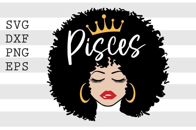 Black Queen Pisces SVG example image 1