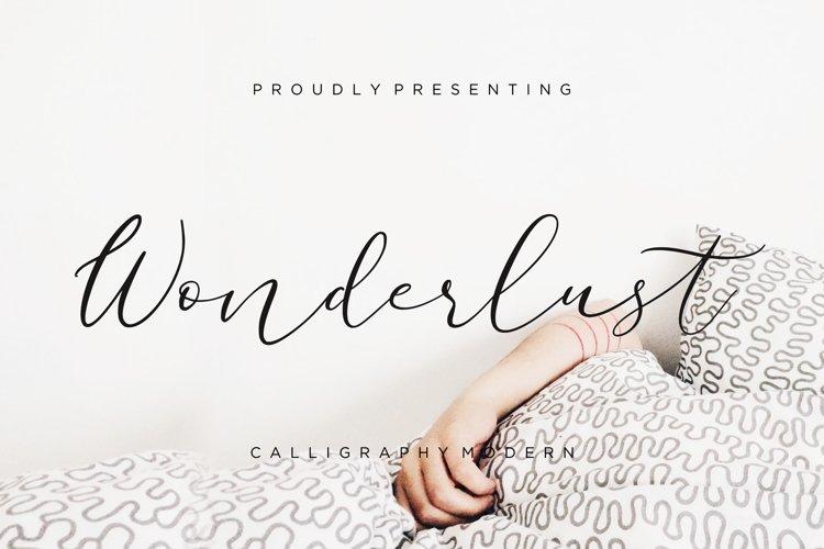 Wonderlust Calligraphy Modern example image 1