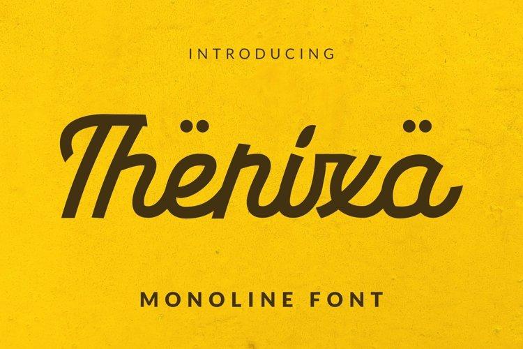 Web Font Therixa Font example image 1