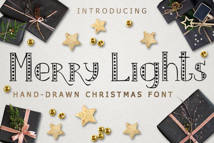 MERRY LIGHTS - hand drawn Christmas font