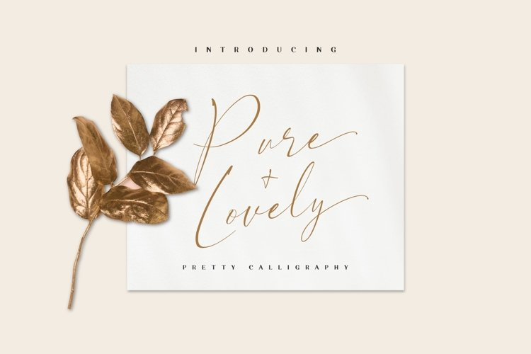 Pure & Lovely - pretty calligraphy example image 1