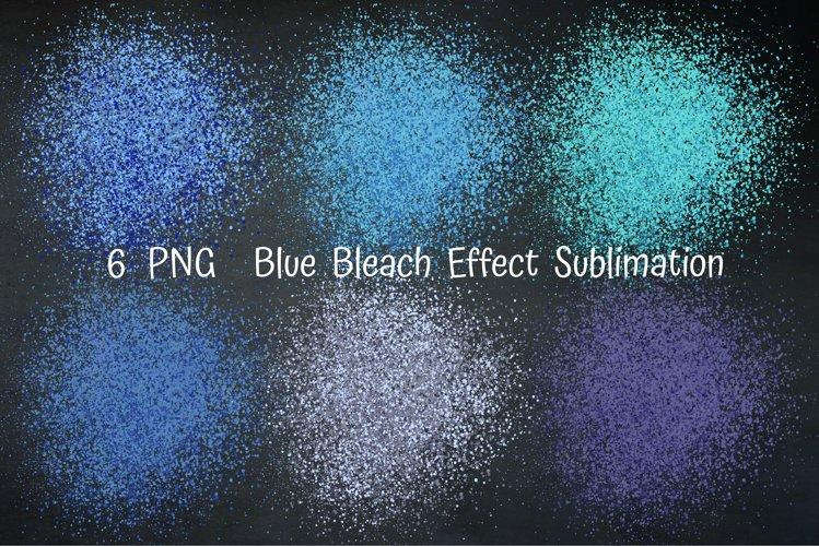 Blue Bleach Effect Sublimation. Bleach Patches Sublimation.