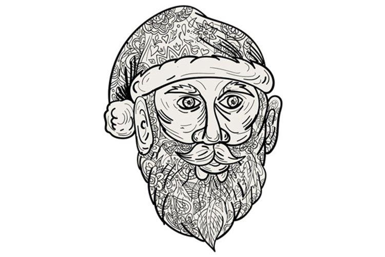Santa Claus Head Mandala example image 1