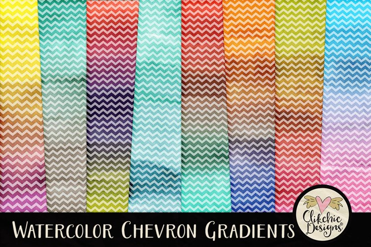 Watercolor Background Textures - Chevron Watercolor Papers example image 1