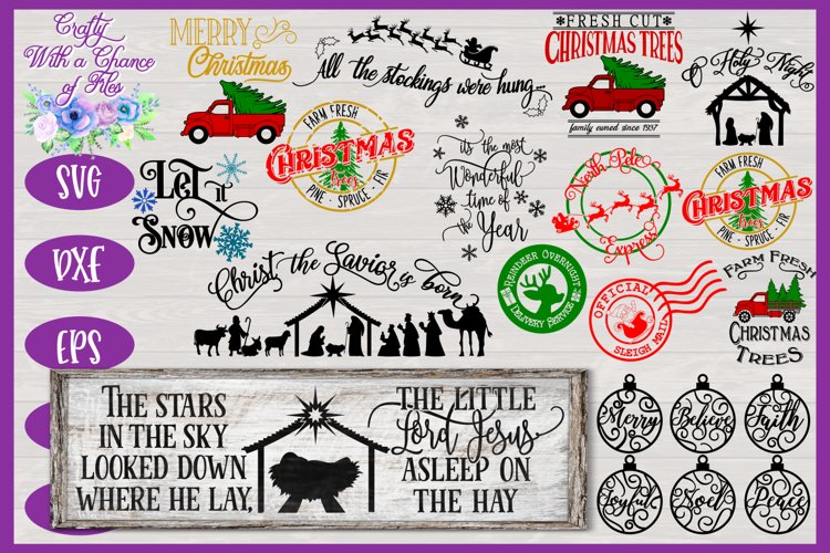Merry Christmas SVG Bundle | Christmas Farmhouse SVGs example image 1