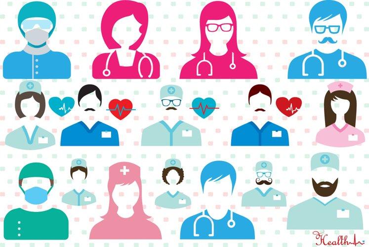 Doctor Medic Props SVG Nurse hospital medicine 207S example image 1