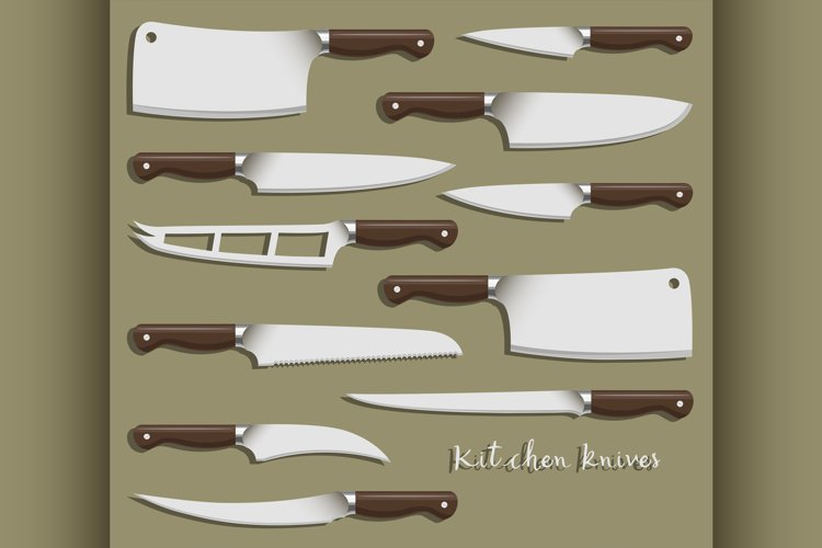 Kitchen knife weapon steel example image 1