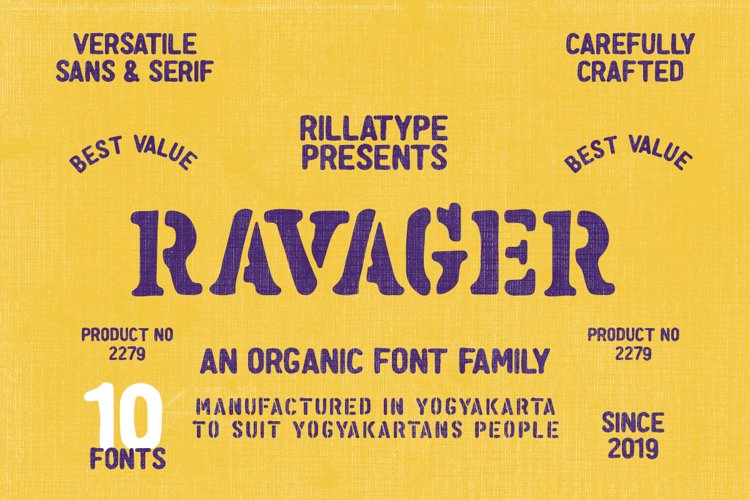 Ravager - Organic Typeface Family example image 1