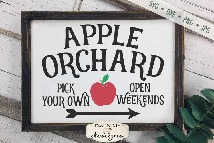 Apple Orchard | Farmhouse | Summer SVG example image 1