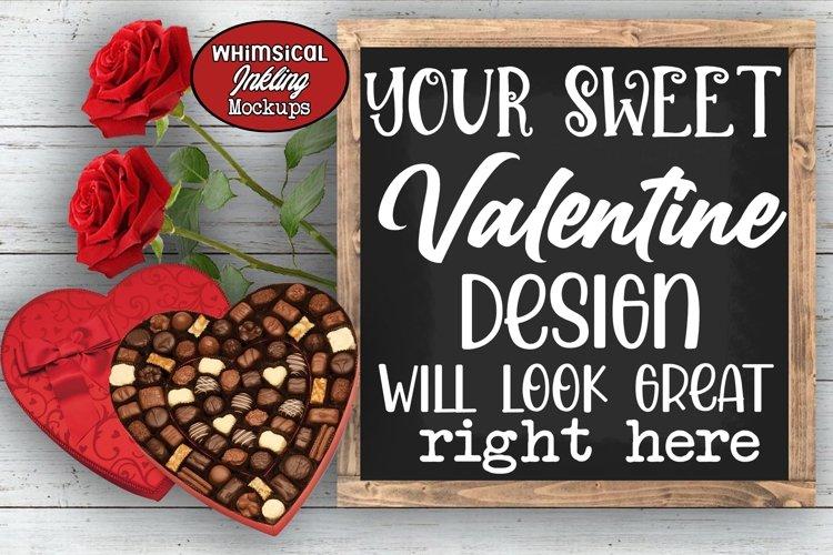 My Sweet Valentine Sign Mockup example image 1