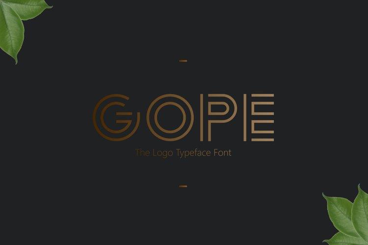 Logo Font!! Gope Typeface example image 1