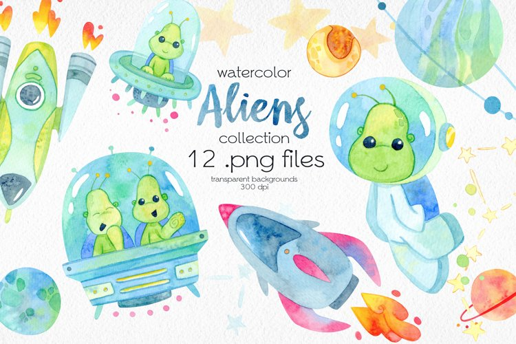 Watercolor Space ClipArt