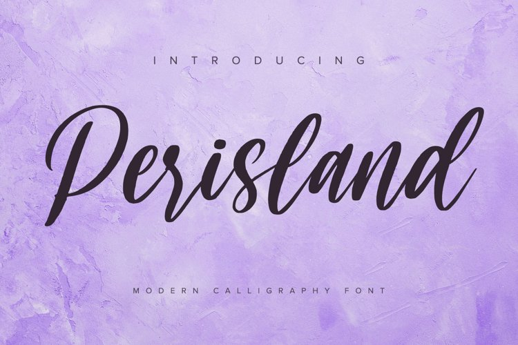 Perisland - Handwritten Font example image 1