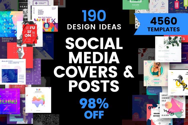Social Media Cover & Post Design Templates Bundle SALE example image 1