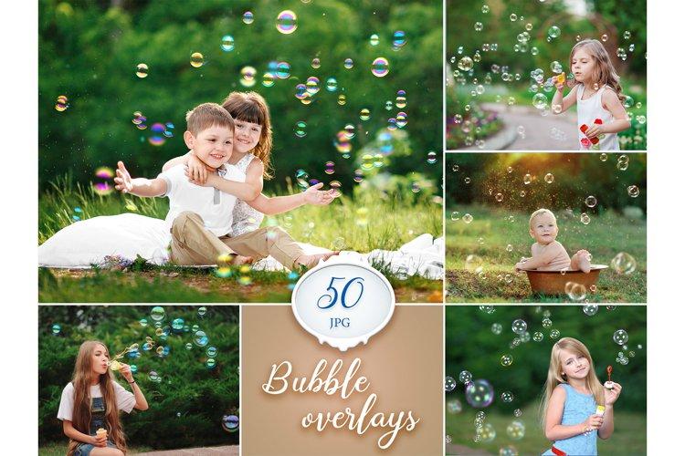 50 Bubble photoshop overlays