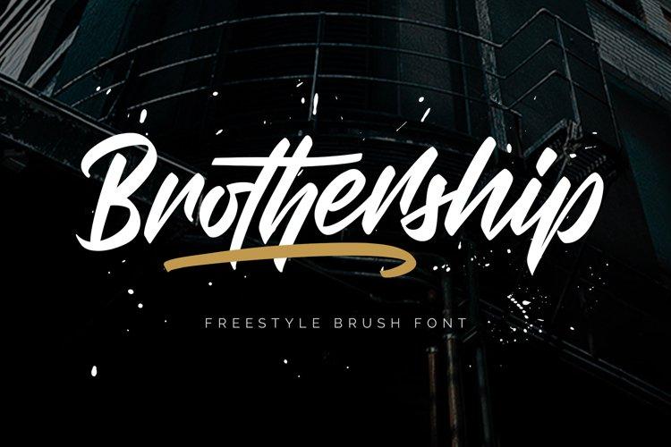 Brothership - Freestyle Brush Font example image 1