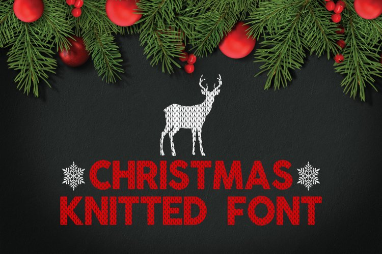 Christmas Knitted Font v4 example image 1