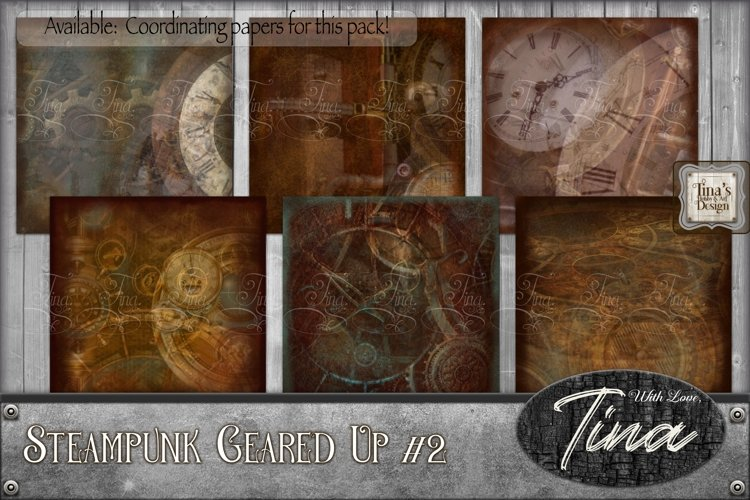 Steampunk Geared Up Gears Clocks Grunge 092918GU2 example image 1