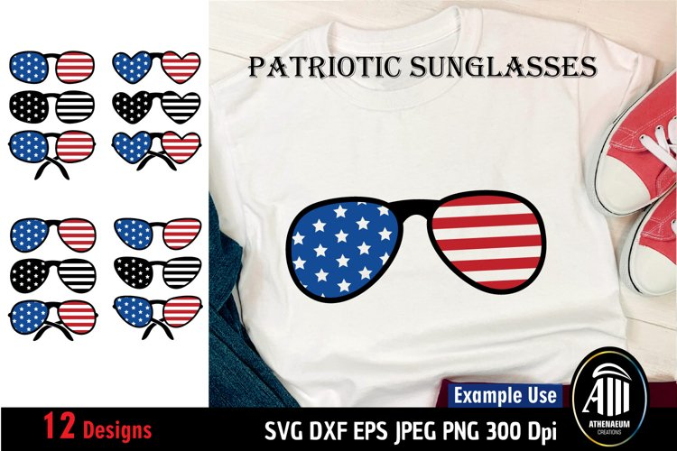 Patriotic Sunglasses Bundle SVG|4th of July SVG Bundle