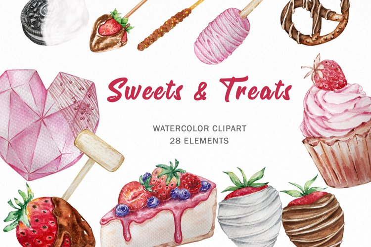 Breakable Hearts and Chocolate Covered Strawberry Clipart
