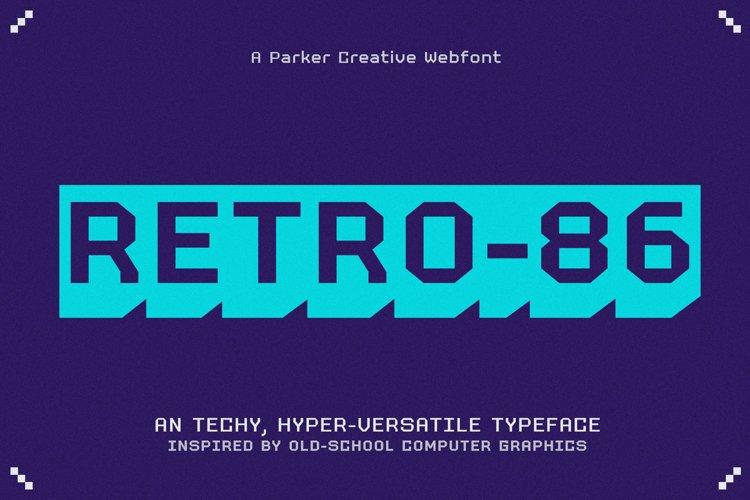 RETRO-86 - Cool Pixel Font example image 1