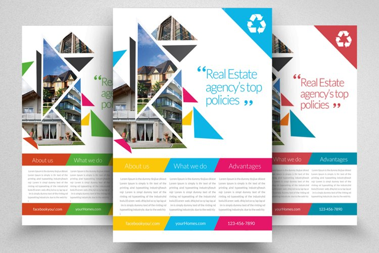 Real Estate Agency Flyer Template example image 1
