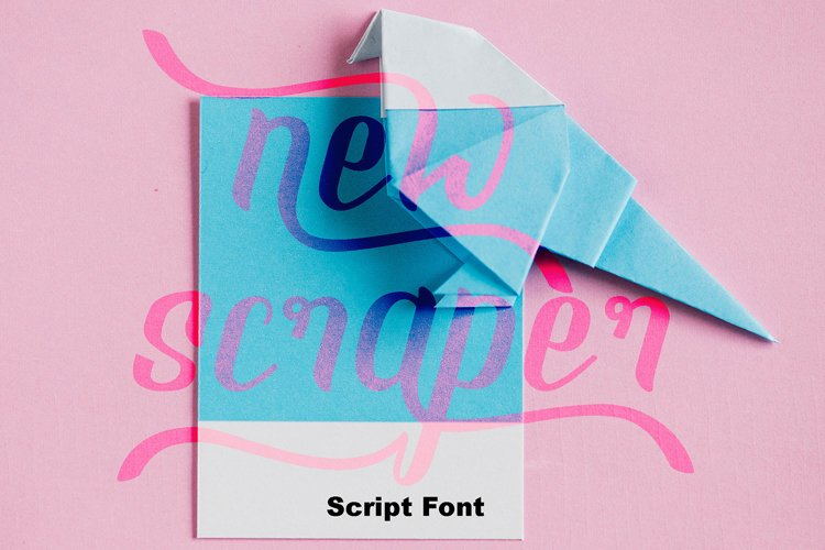 NEW SCRAPER - Script Font example image 1