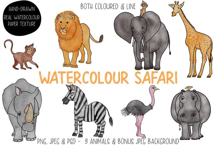 Watercolour Safari Animals