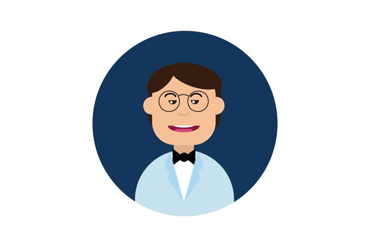 Icon Character Grooms Glasses Black Tie example image 1