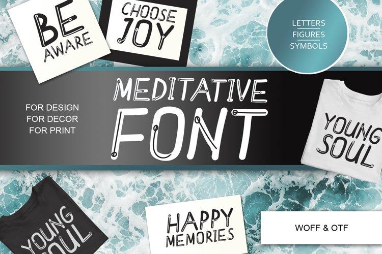 Meditative font - cute English font