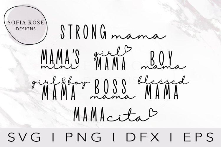 Mama SVG Bundle, Mom SVG Bundle, Mom Life Svg Bundle example image 1
