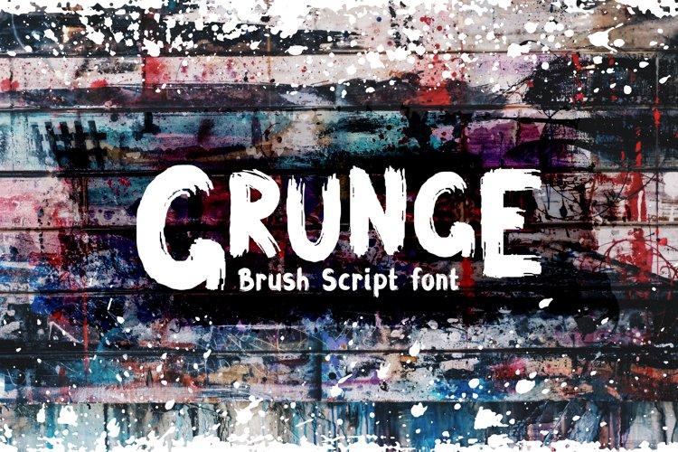 Grunge Latin and Cyrillic Brush Script Font example image 1