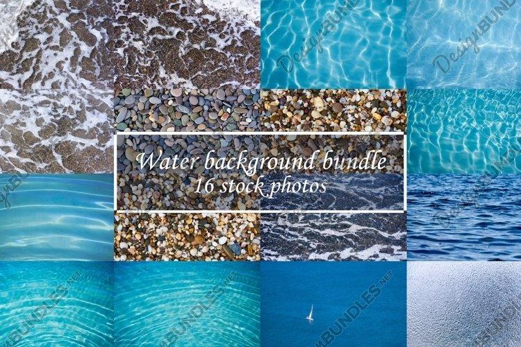 Water background texture bundle 16 stock photos.