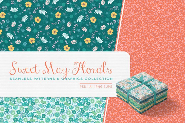 Sweet May Florals Patterns and Graphics