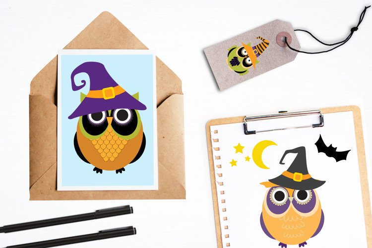 Halloween Owls graphics and illustrations - Free Design of The Week Design2